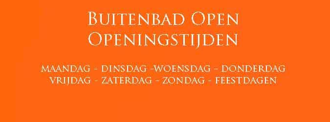Buitenbad Open Openingstijden
