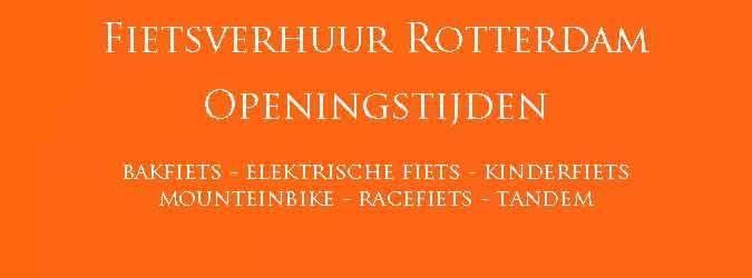 Fietsverhuur Rotterdam Openingstijden Fiets Huren Rotterdam